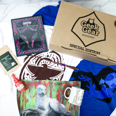 Geek Gear World of Wizardry October 2019 Special Edition Box Review