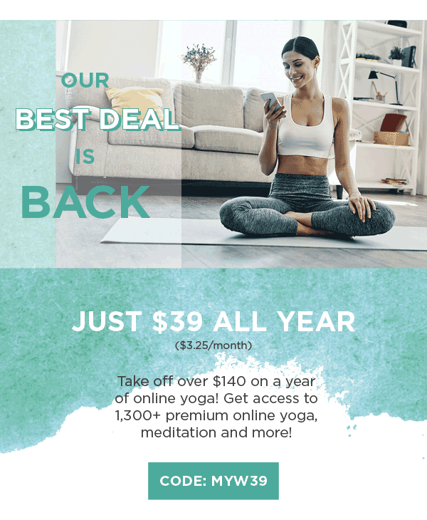MyYogaWorks Black Friday Coupon: Get An Annual Subscription For Just $39 & More!
