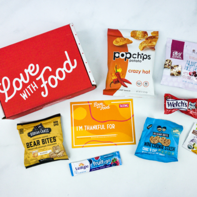 Love With Food November 2019 Tasting Box Review + Coupon!