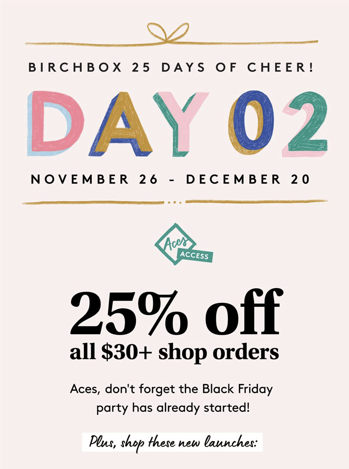 Birchbox Black Friday 2019 Sale: Save Up to 25% on Shop Orders!