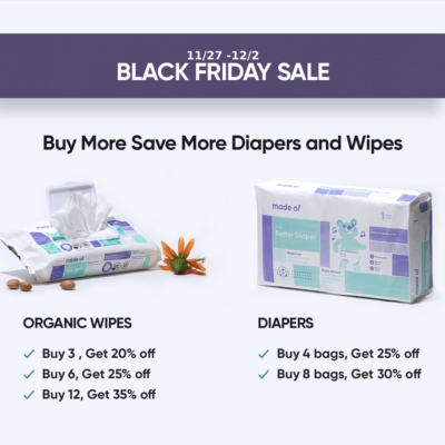 Made Of Black Friday Sale: Save up to 35% on Diapers and Wipes!