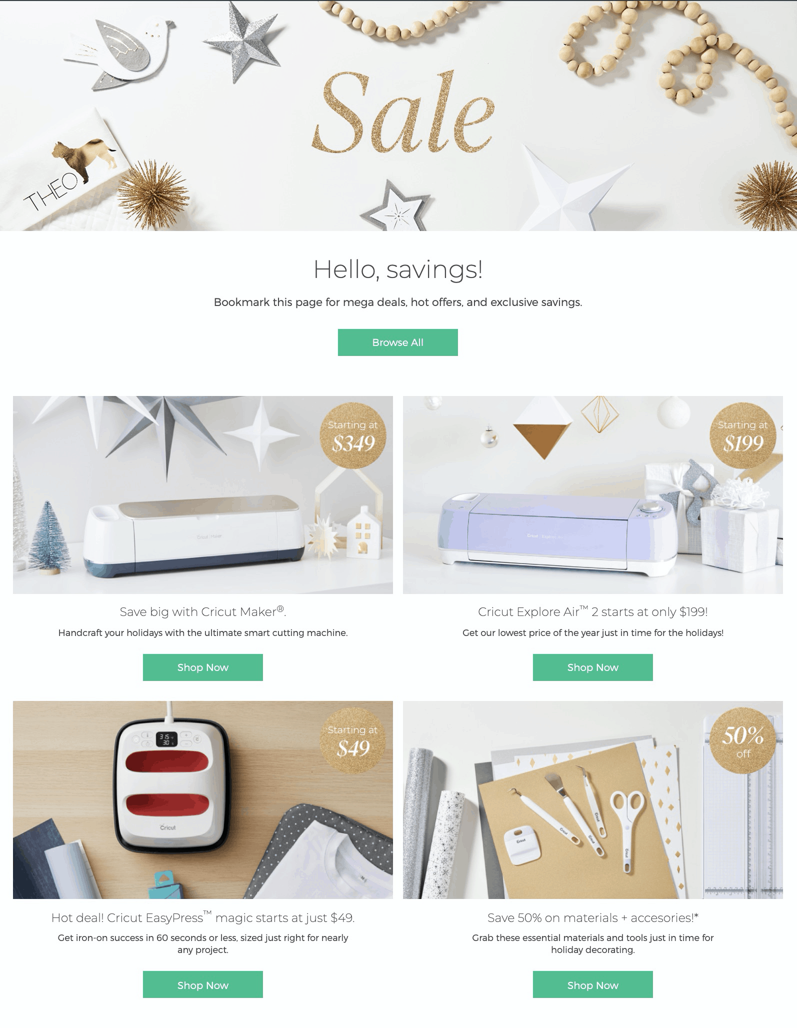 Cricut BLACK FRIDAY 2019 Deals All Live Now!