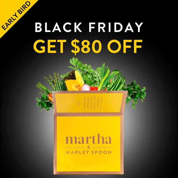 Martha & Marley Spoon Black Friday Deal! $80 Off First Four Boxes!