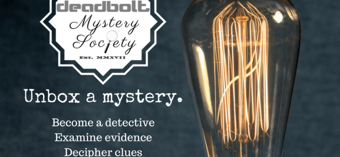 The Deadbolt Mystery Society Black Friday Deal: Save 25% for Black Friday!