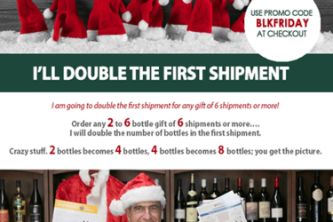 The Original and Only Wine of the Month Club Black Friday Deal: DOUBLE your First shipment!