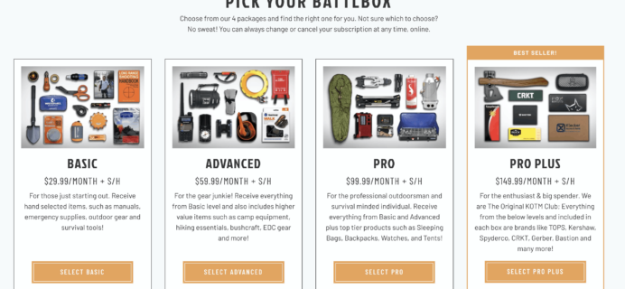 BattlBox Black Friday Deal: Get 25% off your first box!