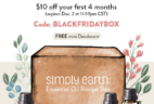 Simply Earth TODAY ONLY Black Friday Deal: $40 Off!