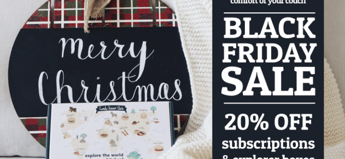 eat2explore Black Friday Deal: Save 20% on Subscriptions & Explorer Boxes!