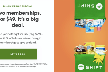 Shipt Black Friday Deal: HALF OFF + Score an extra one FREE!