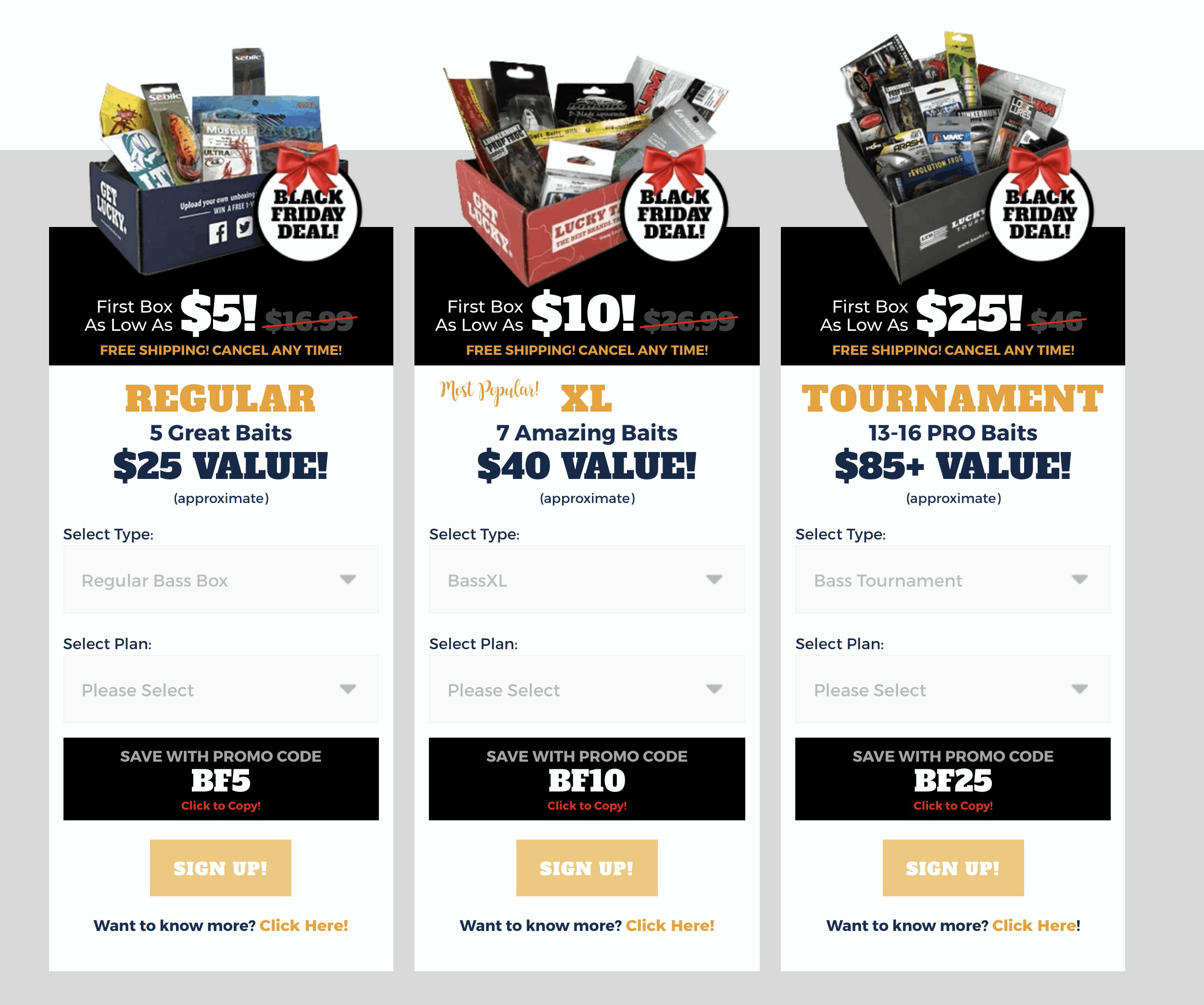 Lucky Tackle Box Black Friday Deal: Get your first box as low as $5!