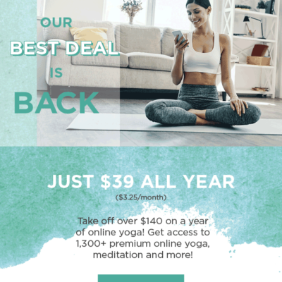 MyYogaWorks Cyber Monday Coupon: Get An Annual Subscription For Just $39 & More!