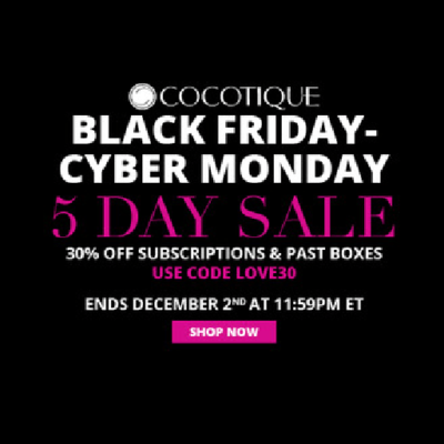Cocotique Cyber Monday Coupon: Get 30% Off ALL Subscriptions & Past Boxes!