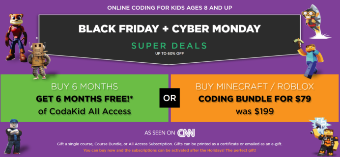CodaKid Cyber Monday 2019 Coupon: FREE 6 Months & More!