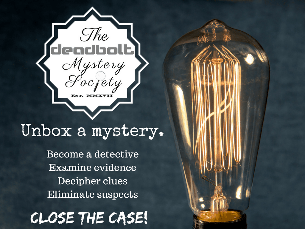 The Deadbolt Mystery Society Cyber Monday Deal: Save 30% for Cyber Monday!