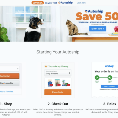 Chewy Cyber Monday Deal: 50% Off Your First Autoship Purchase!