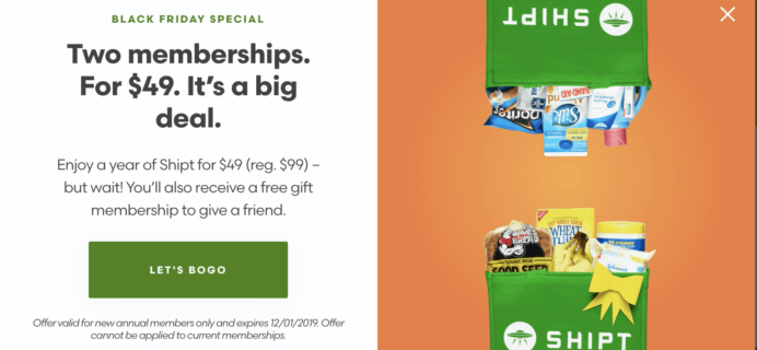 Shipt Cyber Monday Deal: HALF OFF + Score an extra one FREE!