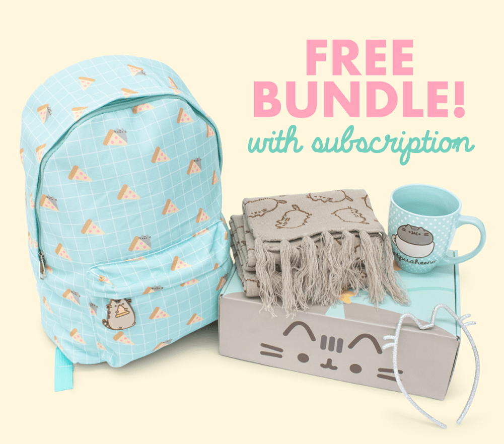 Pusheen Box Cyber Monday Coupon: FREE Pusheen Bundle with First Box!