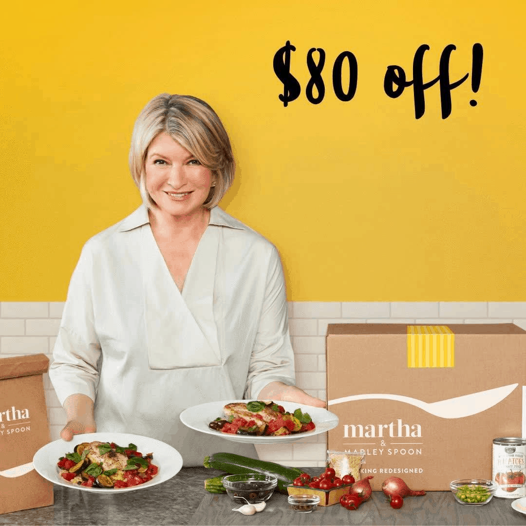 Martha & Marley Spoon Cyber Monday Deal! $80 Off First Four Boxes!