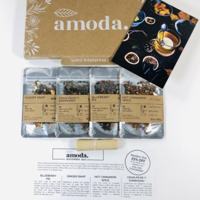 Amoda Tea November 2019 Subscription Box Review + Coupon!