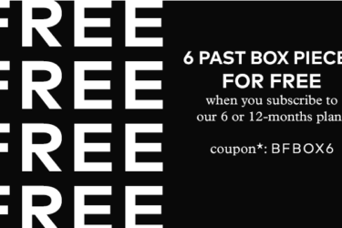 Emma & Chloe Black Friday Coupon! Six Past Boxes FREE With Subscription!