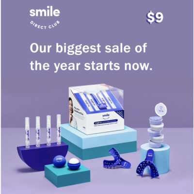 Smile Direct Club Cyber Monday Coupon: Get your kit for ONLY $9!