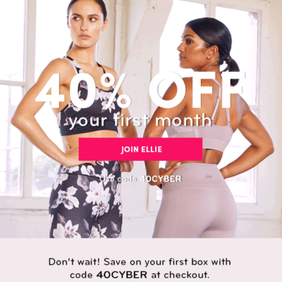 Ellie Cyber Monday Deal: Get 40% off your first month!
