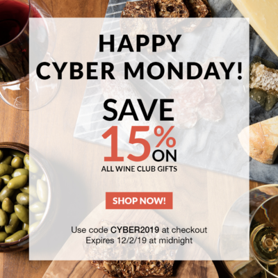 Plonk Wine Club Cyber Monday Deal: Save 15% on all wine club gifts!