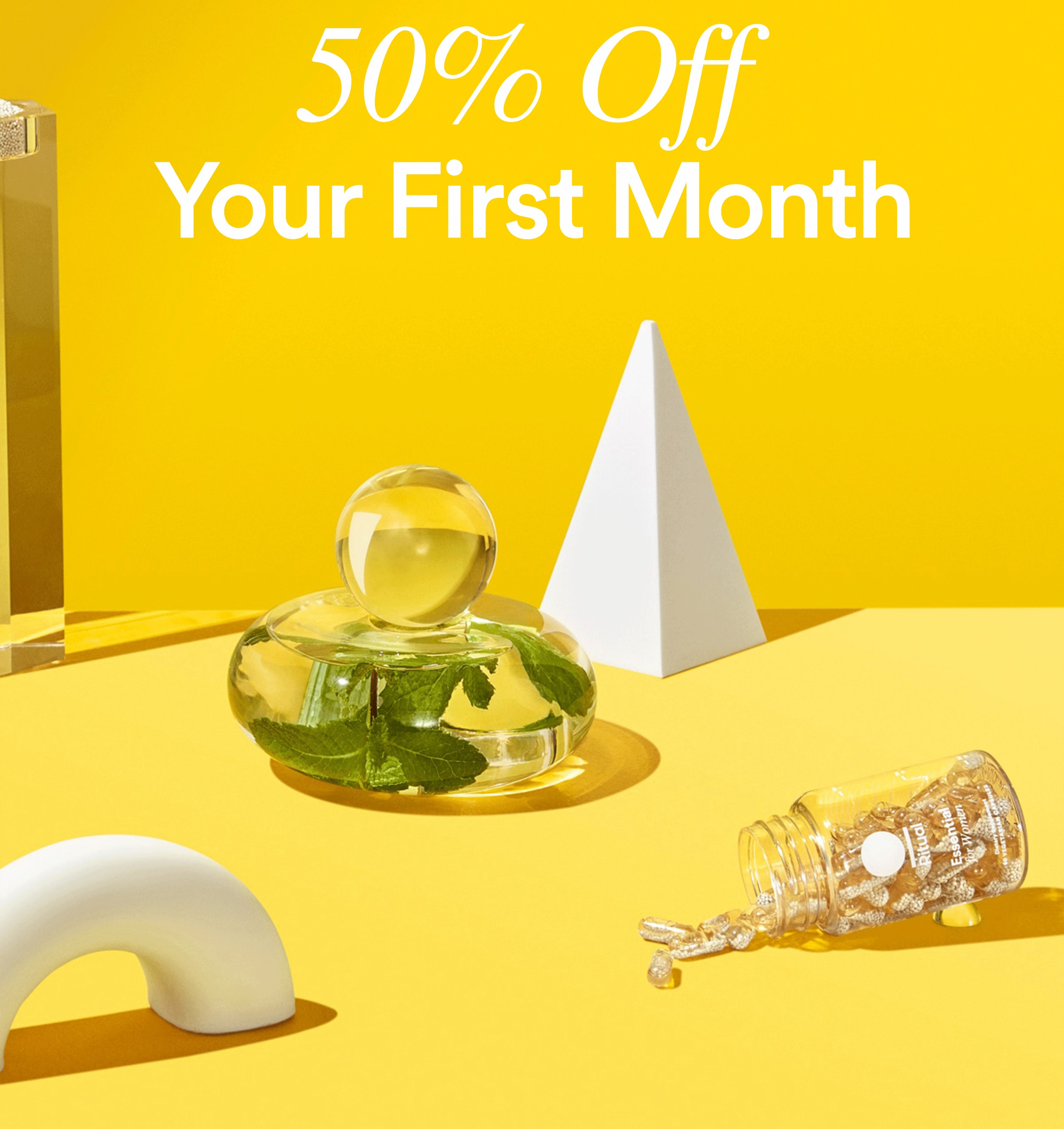 Ritual Vitamins Cyber Monday Coupon: 50% Off First Month!