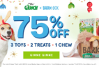 LAST CALL! BarkBox Cyber Monday Deal: Limited Edition GRINCH Theme + $5 First Box + FREE Toy!