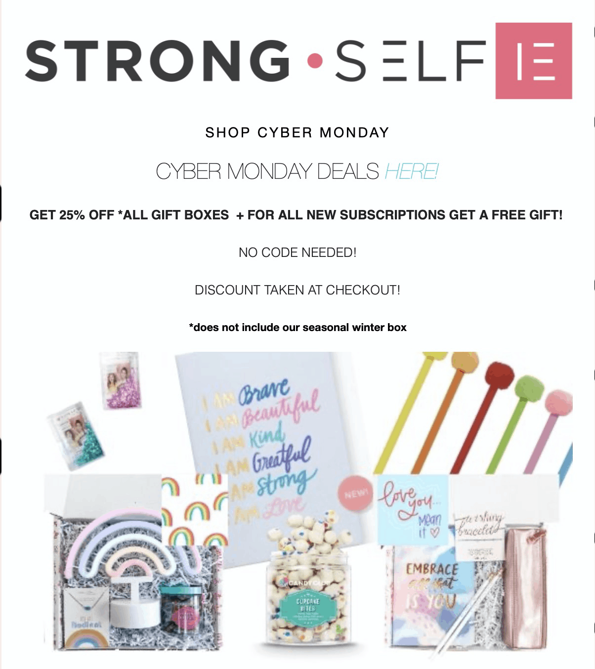 STRONG self(ie) Cyber Monday 2019 Sale: Get 25% Off Gift Boxes!