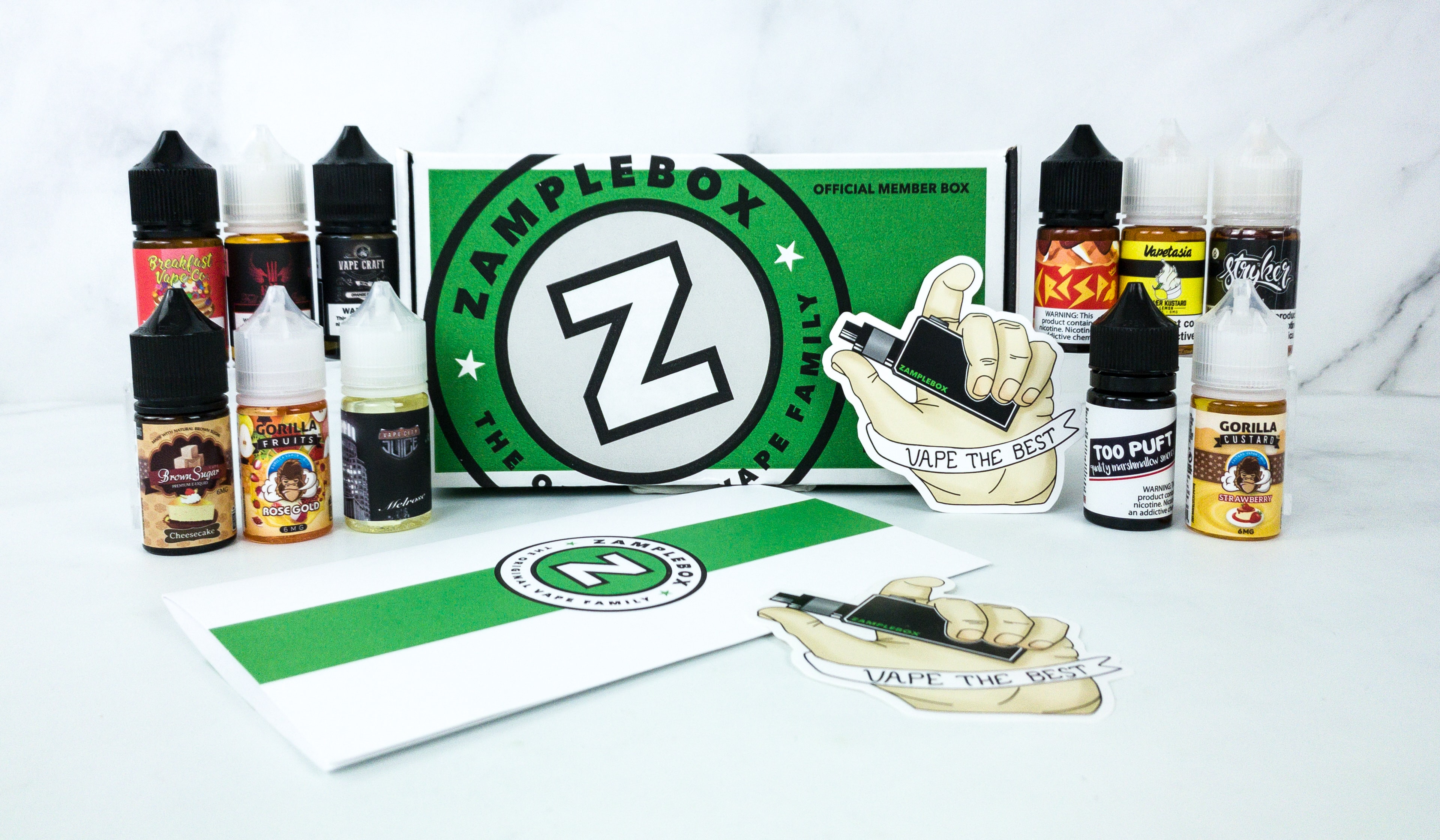 Zamplebox E-Juice November 2019 Subscription Box Review + Coupon!