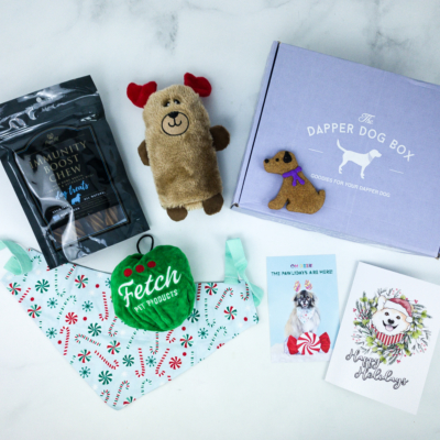 The Dapper Dog Box December 2019 Subscription Box Review + Coupon