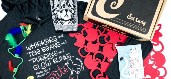 Cat Lady Box December 2019 Subscription Box Review