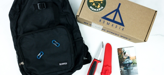 Nomadik November 2019 Subscription Box Review + Coupon
