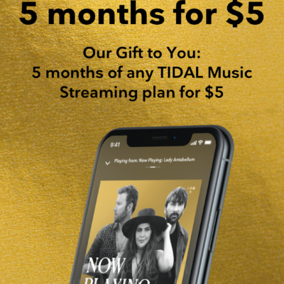 Tidal Holiday Coupon: 5 Months for $5 On Any Plans!