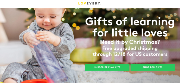 Lovevery Holiday Sale: FREE Upgraded Shipping!
