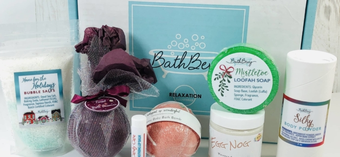 Bath Bevy December 2019 Subscription Box Review + Coupon