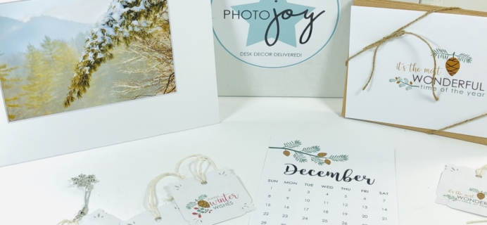Photo Joy Box December 2019 Subscription Box Review + Coupon