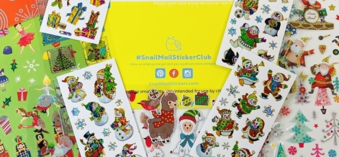 Snail Mail Sticker Club December 2019 Subscription Box Review + Coupon