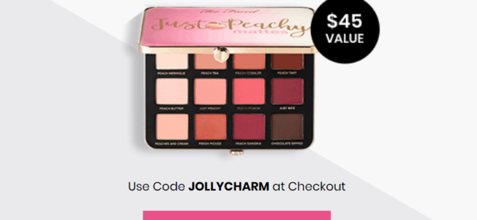 BOXYCHARM Coupon: FREE Tarte Just Peachy Palette with December 2019 Box!