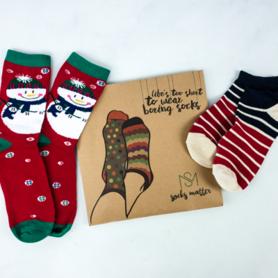 Socks Matter December 2019 Subscription Box Review + Coupon