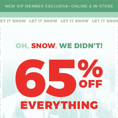 Fabletics Holiday Coupon: 65% Off First Purchase!