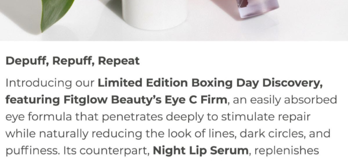 Beauty Heroes Limited Edition Boxing Day Discovery Box by Fitglow Beauty Available Now!