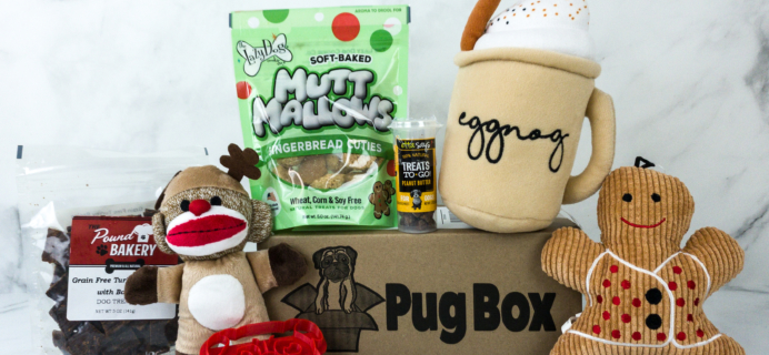 Pug Box December 2019 Subscription Box Review + Coupon!
