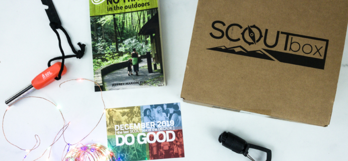 SCOUTbox December 2019 Subscription Box Review + Coupon