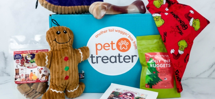 Pet Treater Dog Pack December 2019 Subscription Box Review + Coupon
