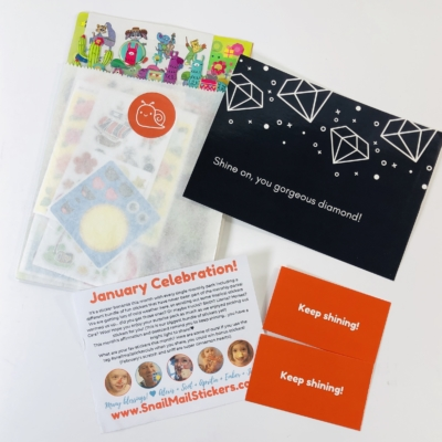 Snail Mail Sticker Club January 2020 Subscription Box Review + Coupon