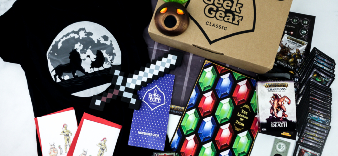 Geek Gear Box November 2019 Subscription Box Review + Coupon