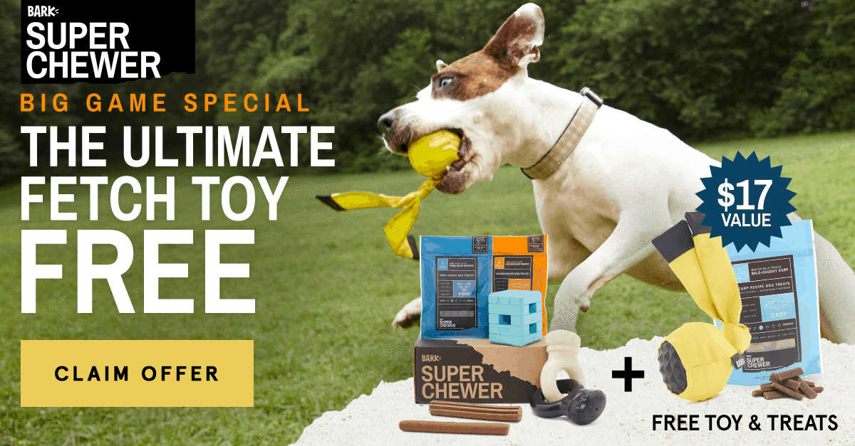 Super Chewer Coupon: Get FREE Bonus Toy & Treats!