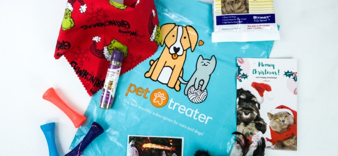 Pet Treater Cat Pack December 2019 Subscription Box Review + Coupon!